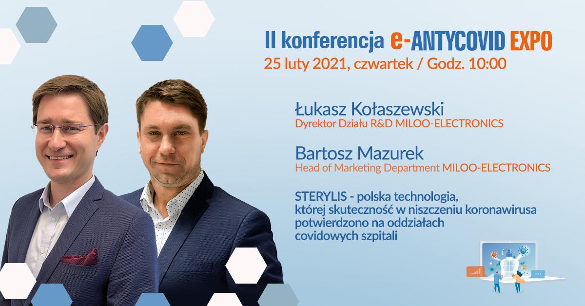Sterylis na konferencji e-ANTYCOVID EXPO